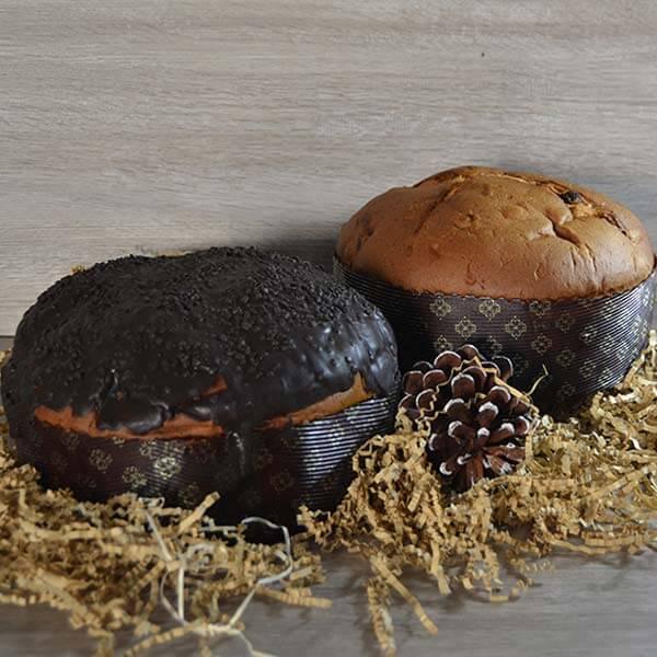 Panettone al cioccolato con o senza glassa