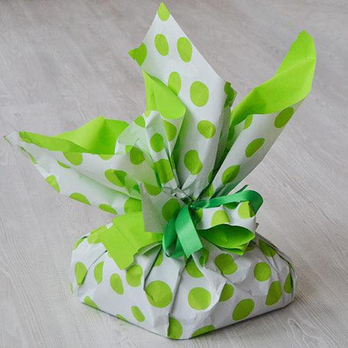 Colomba di pasqua - confezione pois verdi