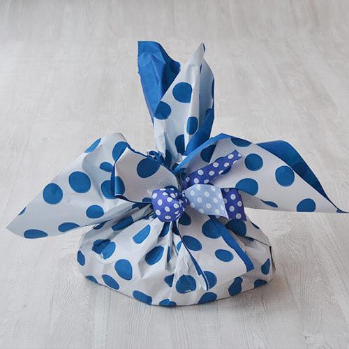 Colomba di pasqua - confezione pois blu