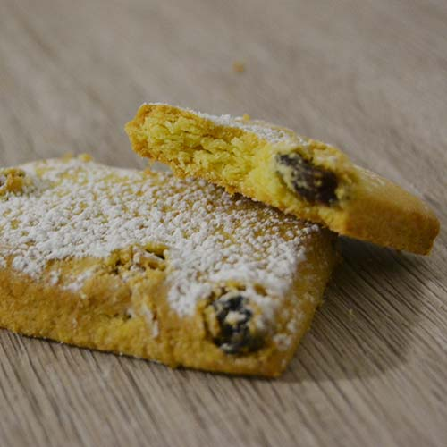 Biscotti senza lattosio con uvetta