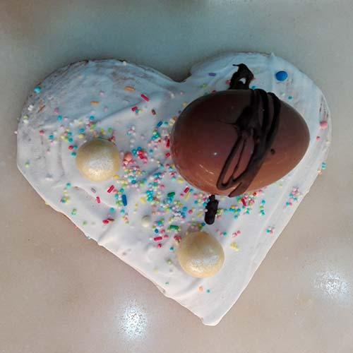 Scarcella con glassa con uovo al cioccolato
