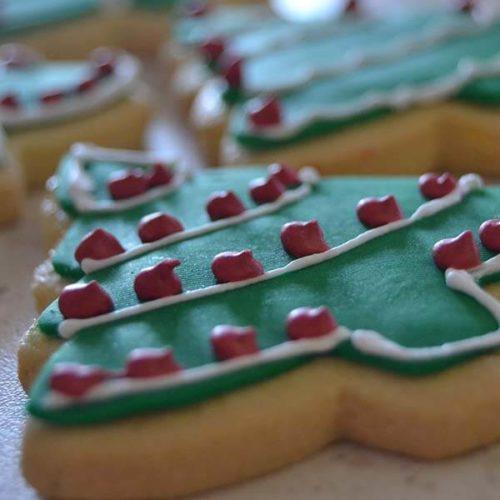 Frollini con decorazione natalizia