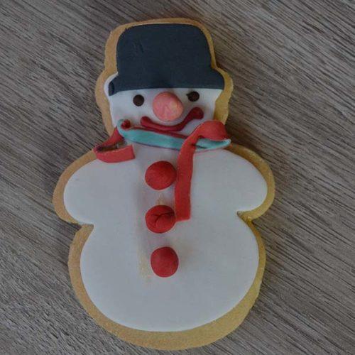 Pupazzo di neve su biscotto