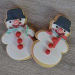 Biscotti pupazzo di neve - senza lattosio