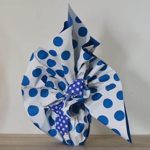 Cuovo di pasqua - confezione pois blu