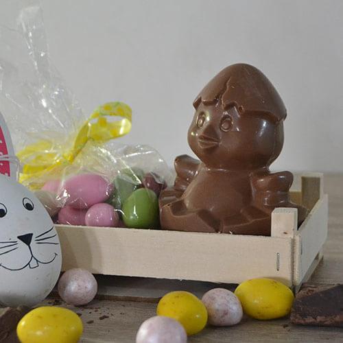 Cestino uovo e cioccolatini