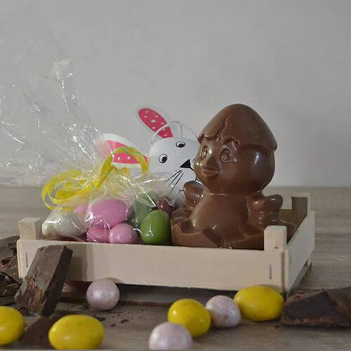 Cestino pulcino e cioccolatini
