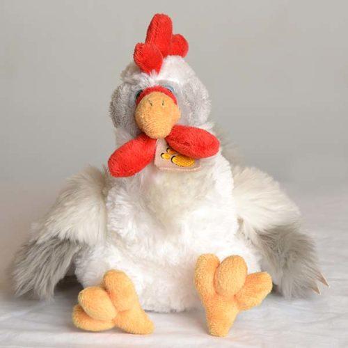 morbido peluche a forma di gallina