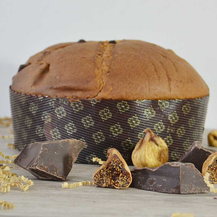 Panettone senza Lattosio - Fichi secchi e Cioccolato