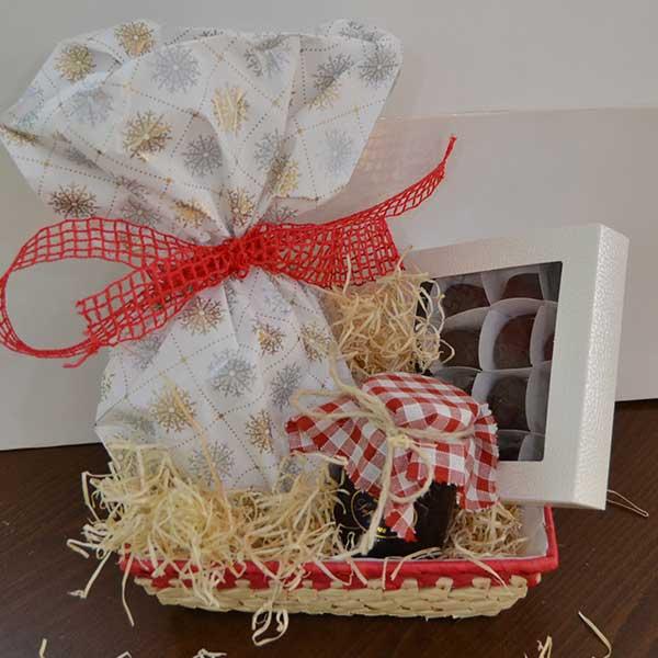 mini cesto natalizio senza Lattosio