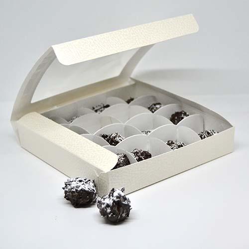 confezione da gr. 200 di cioccolatini al moscato di trani