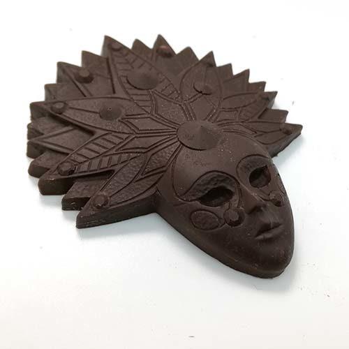 Cioccolato fondente senza tracce di latte - maschera di carnevale