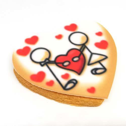 romantici biscotti di pasta frolla senza lattosio