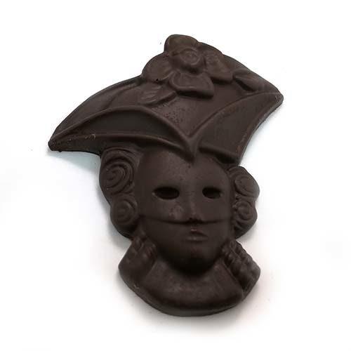 Maschera di carnevale, realizzata artigianalmente con stampi in silicone