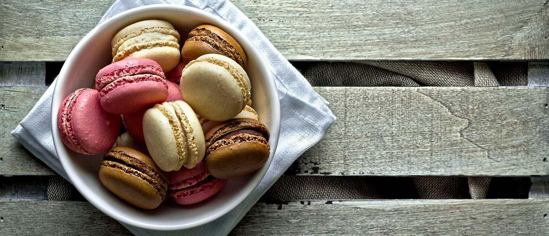 Macarons senza lattosio e senza glutine
