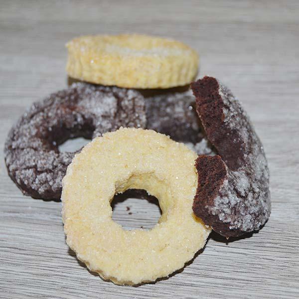 Biscotti al cacao e vaniglia senza glutine
