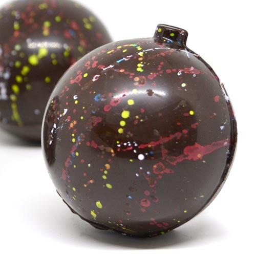Pallina di Natale di cioccolato - senza lattosio e senza glutine