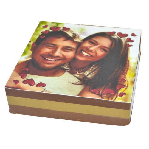 Cremino personalizzato - quadrato con foto innamorati