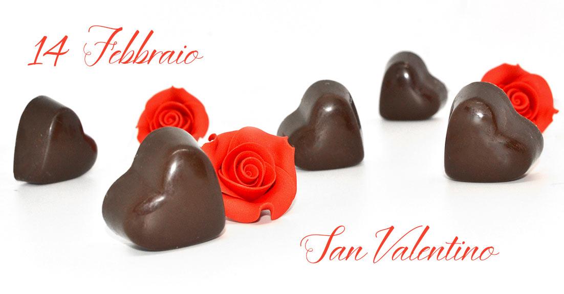 Cioccolatini San valentino a forma di cuore