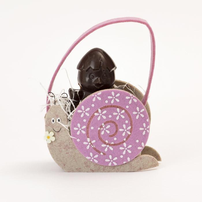 Borsetta lumaca con pupazzo di cioccolato