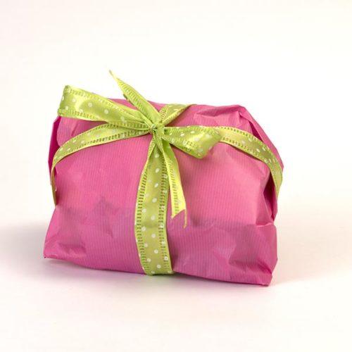 Confezione regalo versione fucsia, per la colomba senza glutine