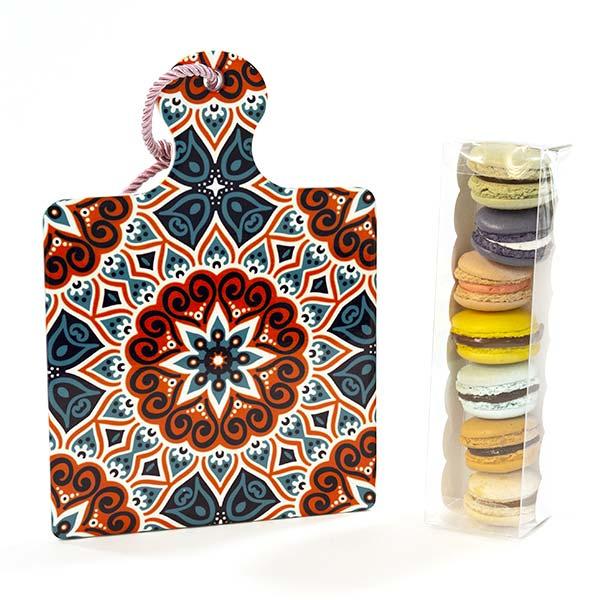 Macarons e sottopentola design quadrato