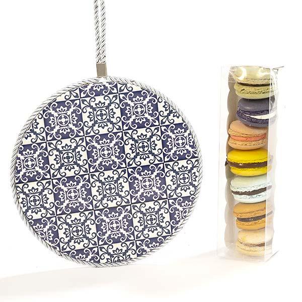 Macarons e sottopentola design rotondo