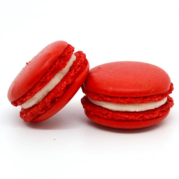 Macarons red velvet